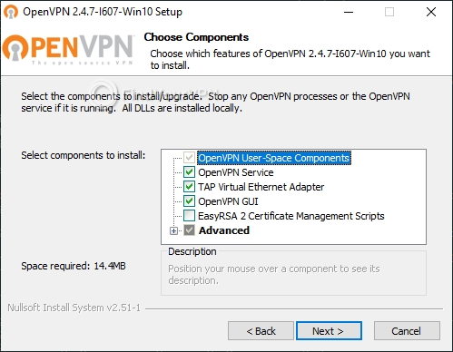 Installing the OpenVPN client on your computer to use with BTGuard