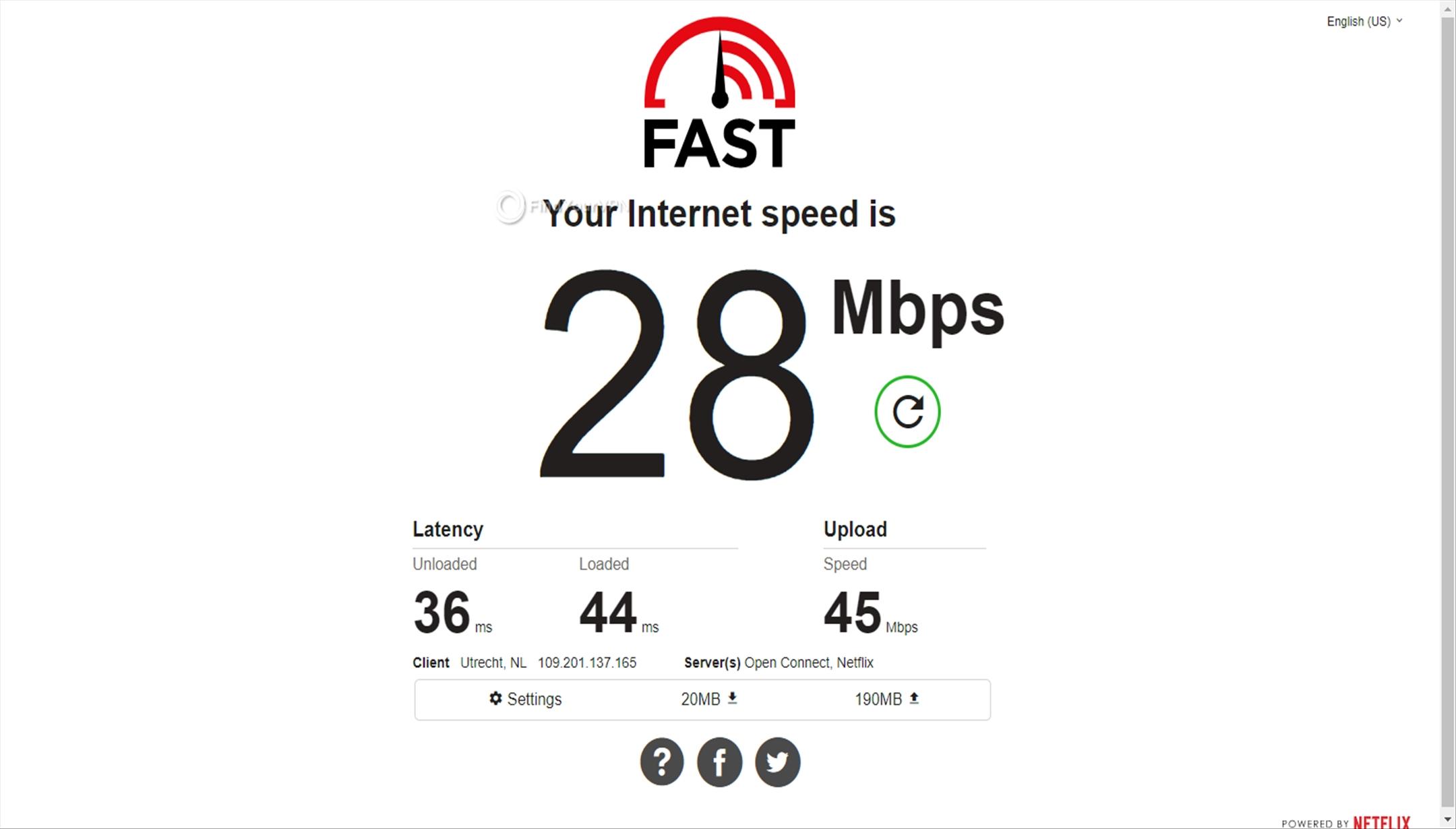 BTGuard's Netherlands server speed