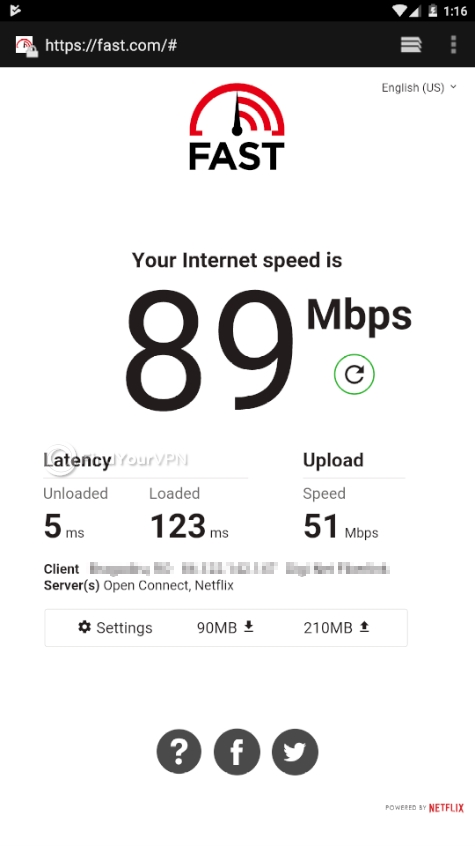 Speed test without being connected to WARP
