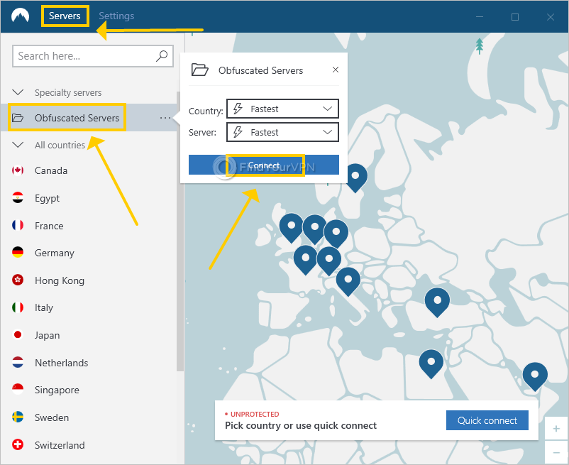 NordVPN shows how to connect to obfuscated servers