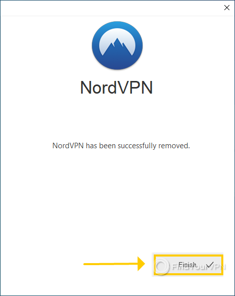 """NordVPN shows the """"Successfully removed"""" message"""