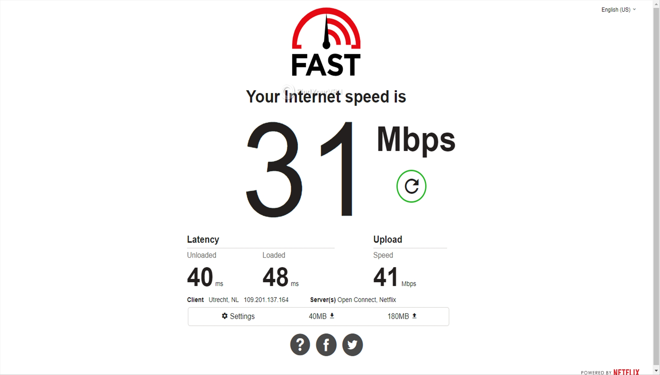 BTGuard's SIngapore server speed