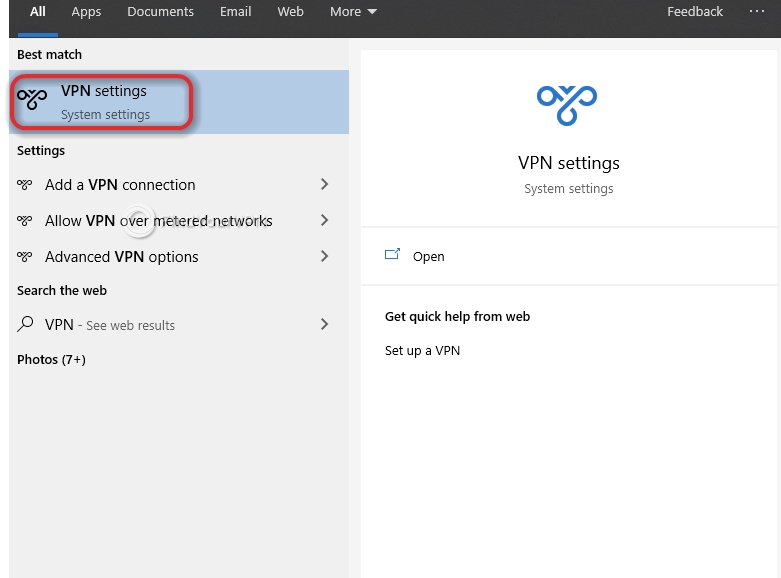 How to find the VPN settings for configuring BTGuard