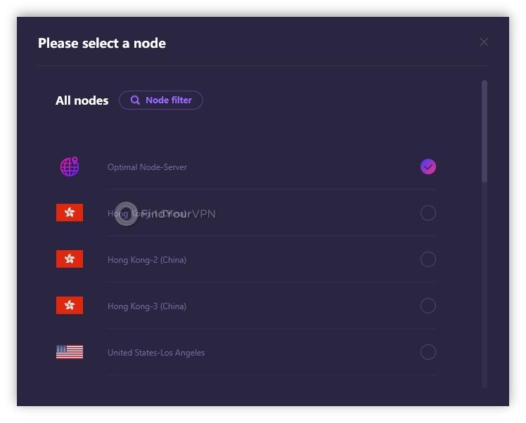RitaVPN server list