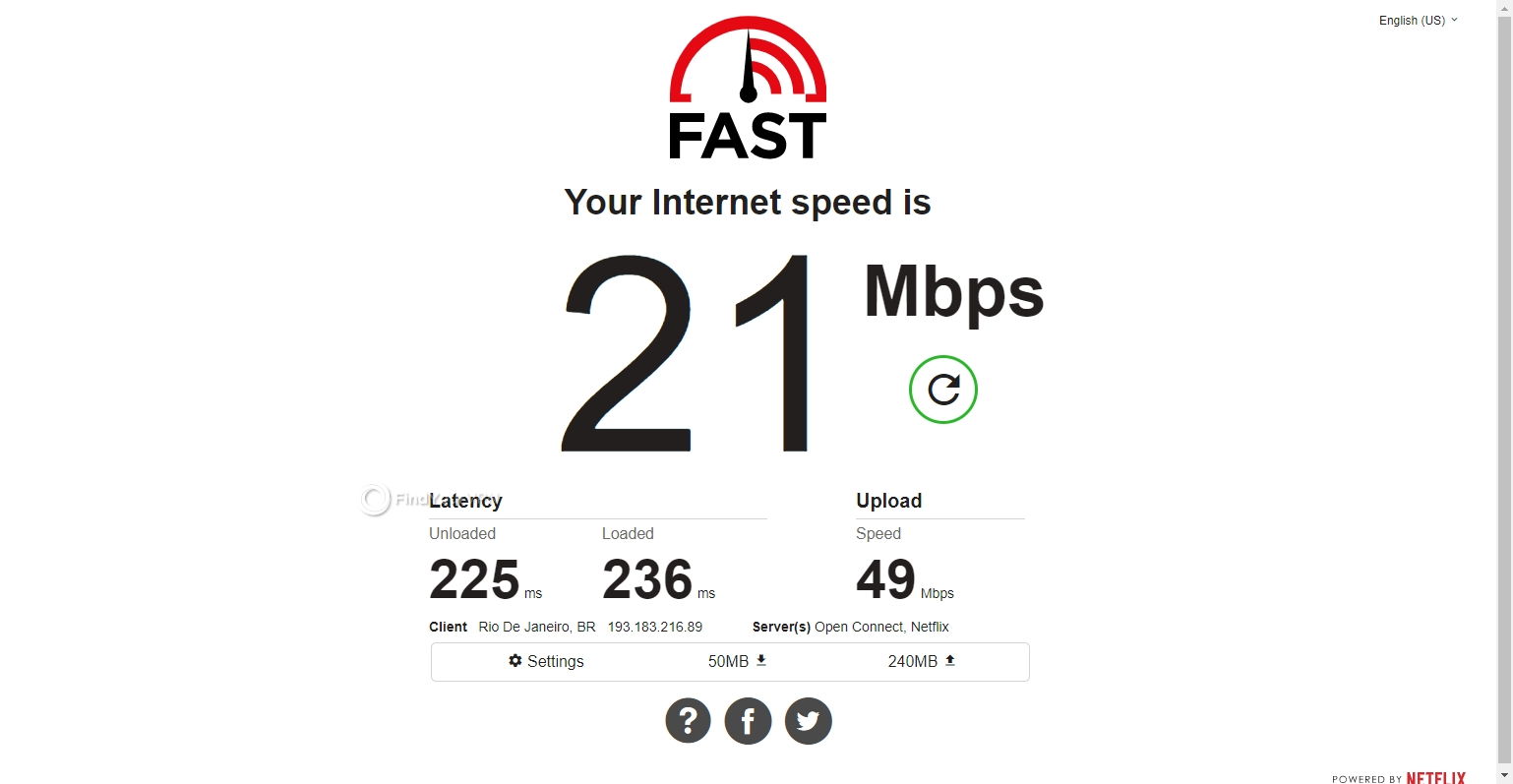 Brazil server speed PrivateVPN