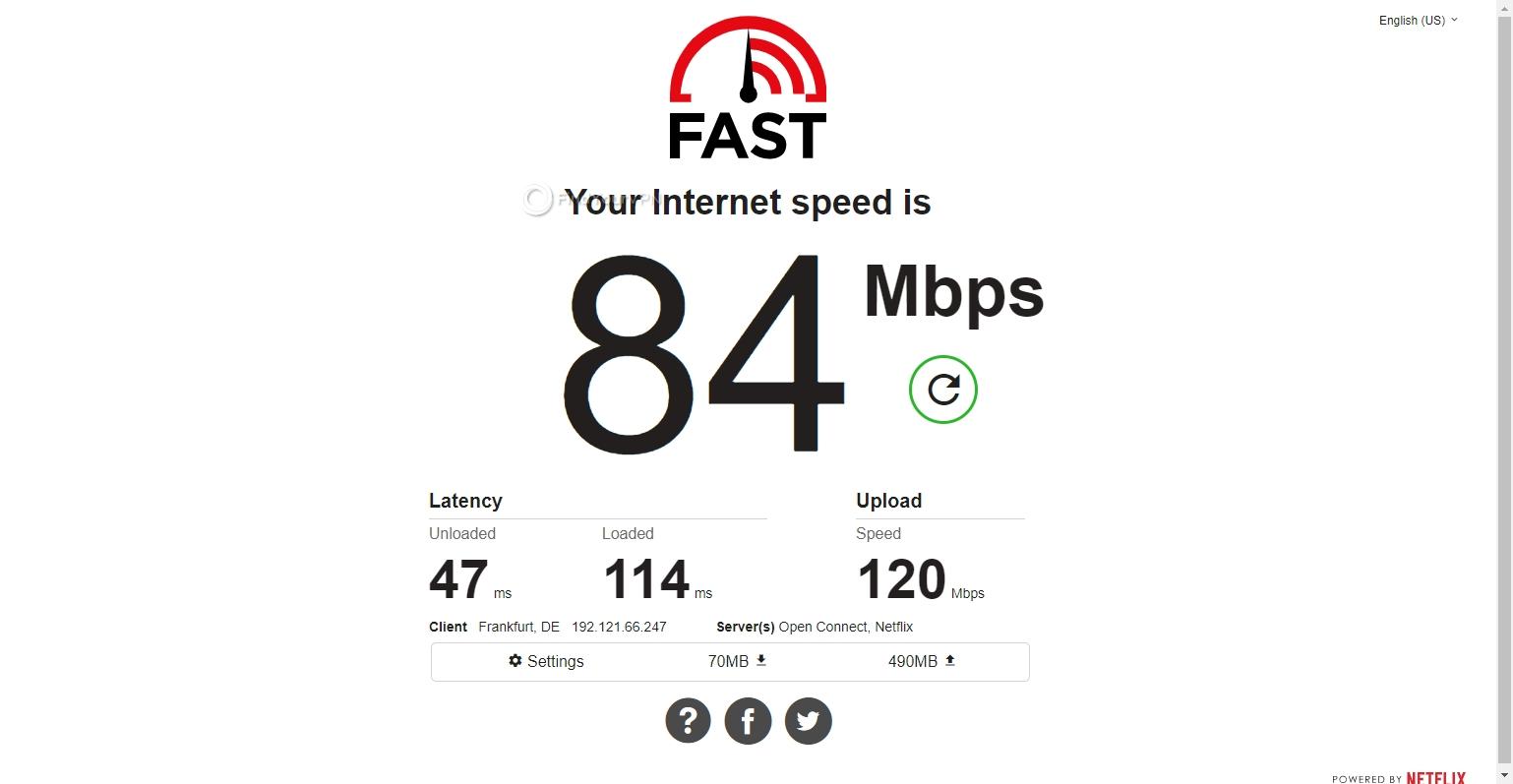 Germany server speed PrivateVPN