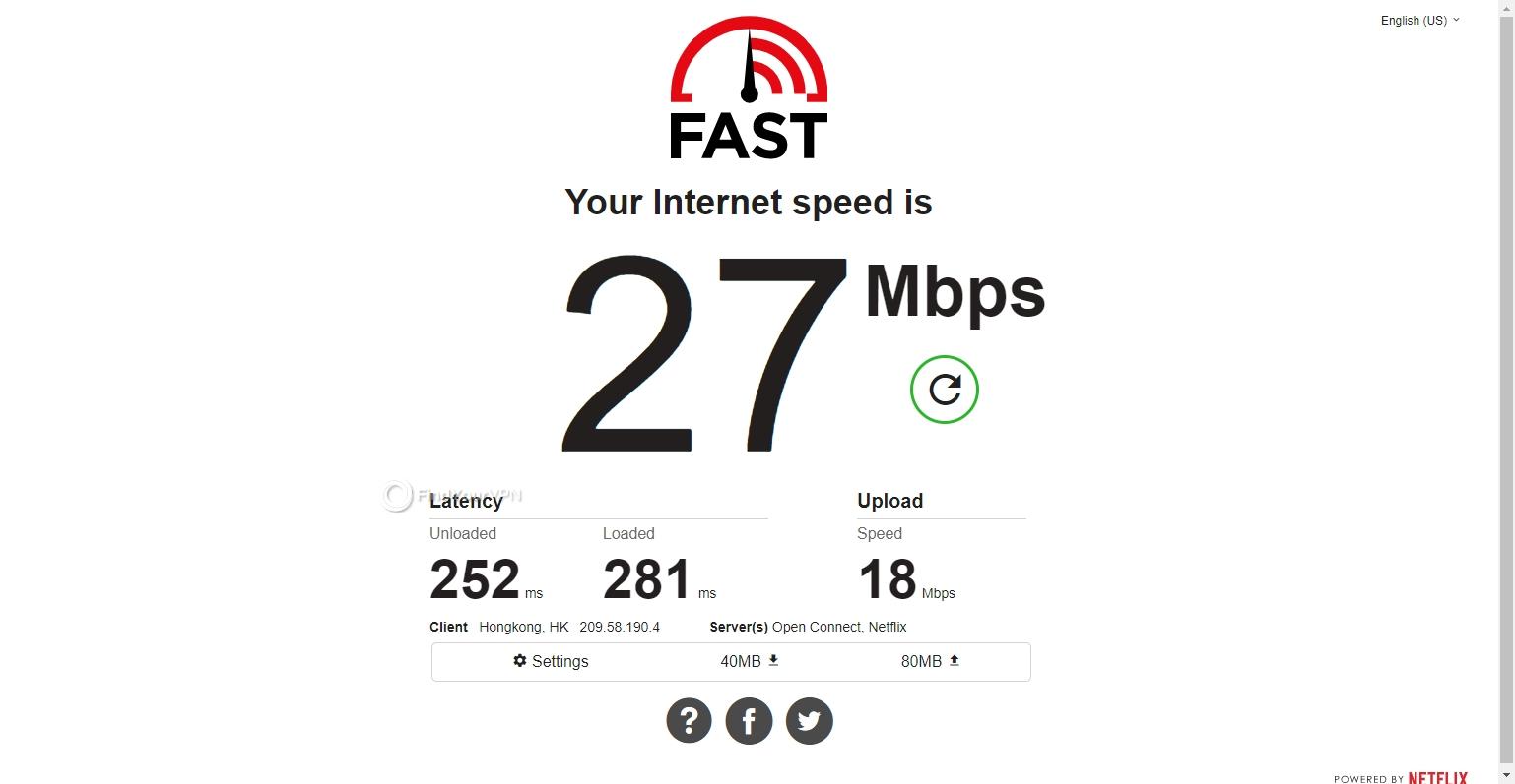Hong Kong server speed PrivateVPN