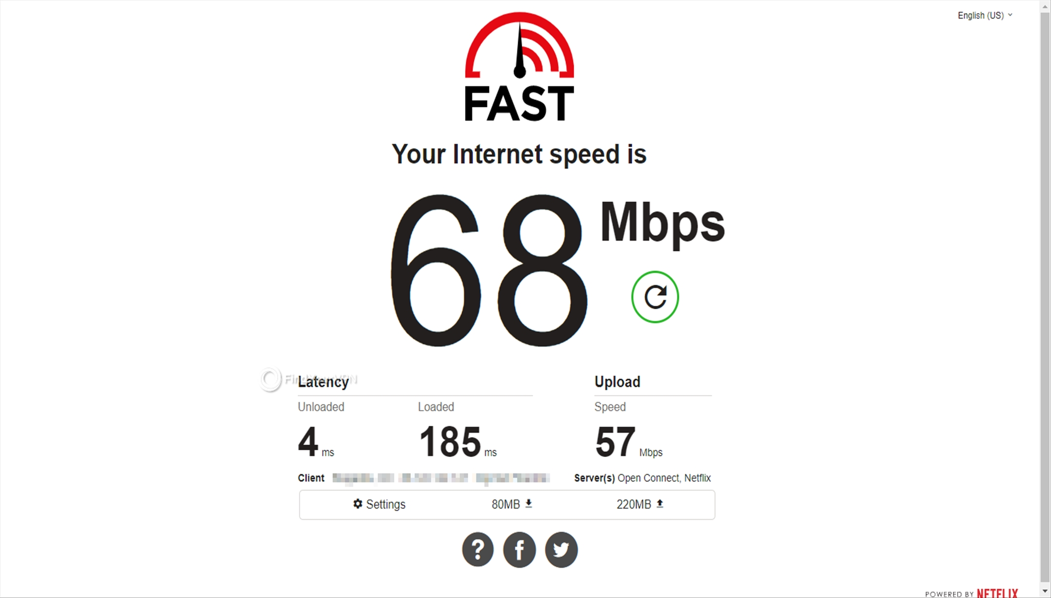 No RitaVPN speed test