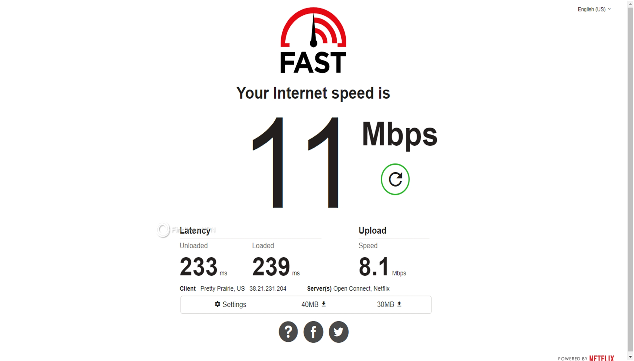 USA RitaVPN speed test