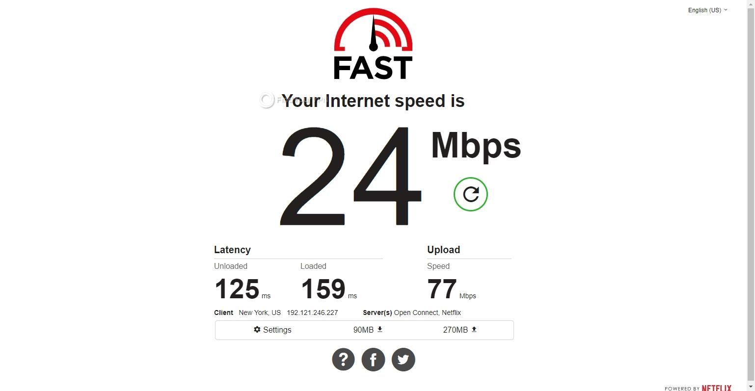 USA server speed PrivateVPN