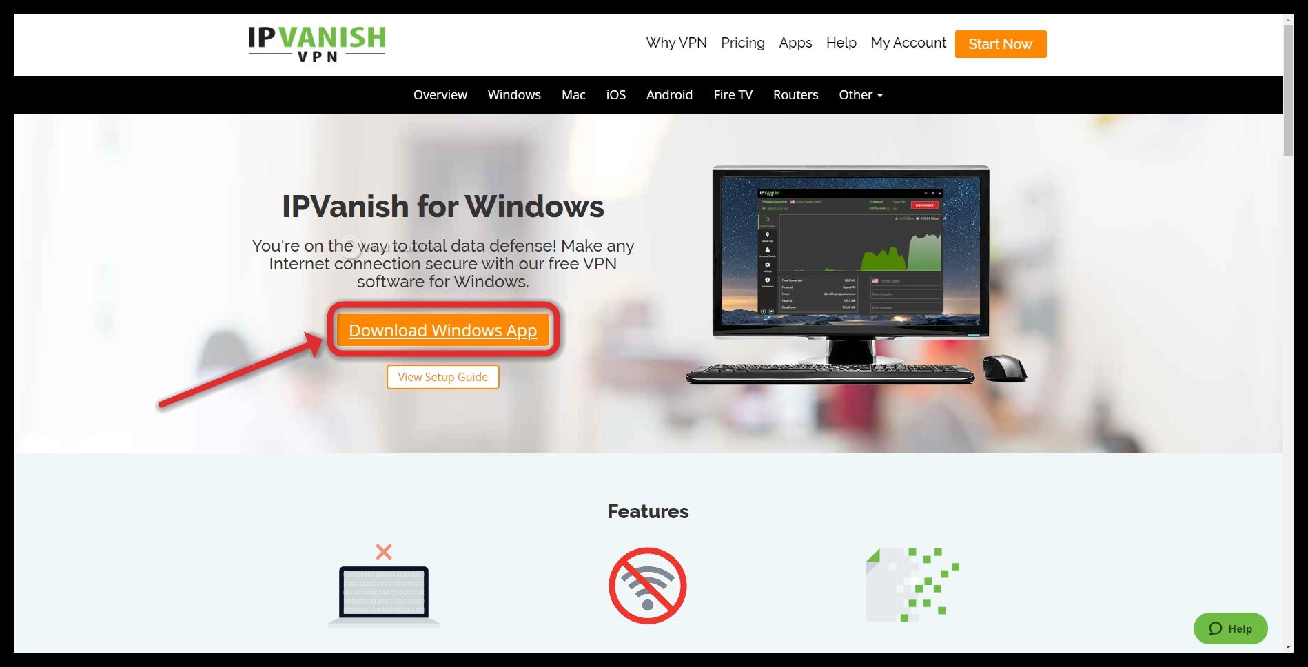 IPVanish download for Windows