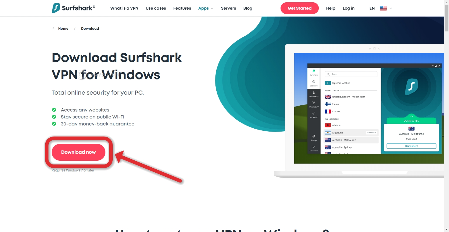 How to download Surfshark for Windows