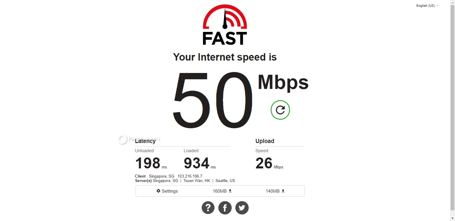 Kaspersky Secure Connection's Hong Kong speed test