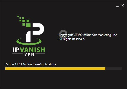 Setup progress IPVanish
