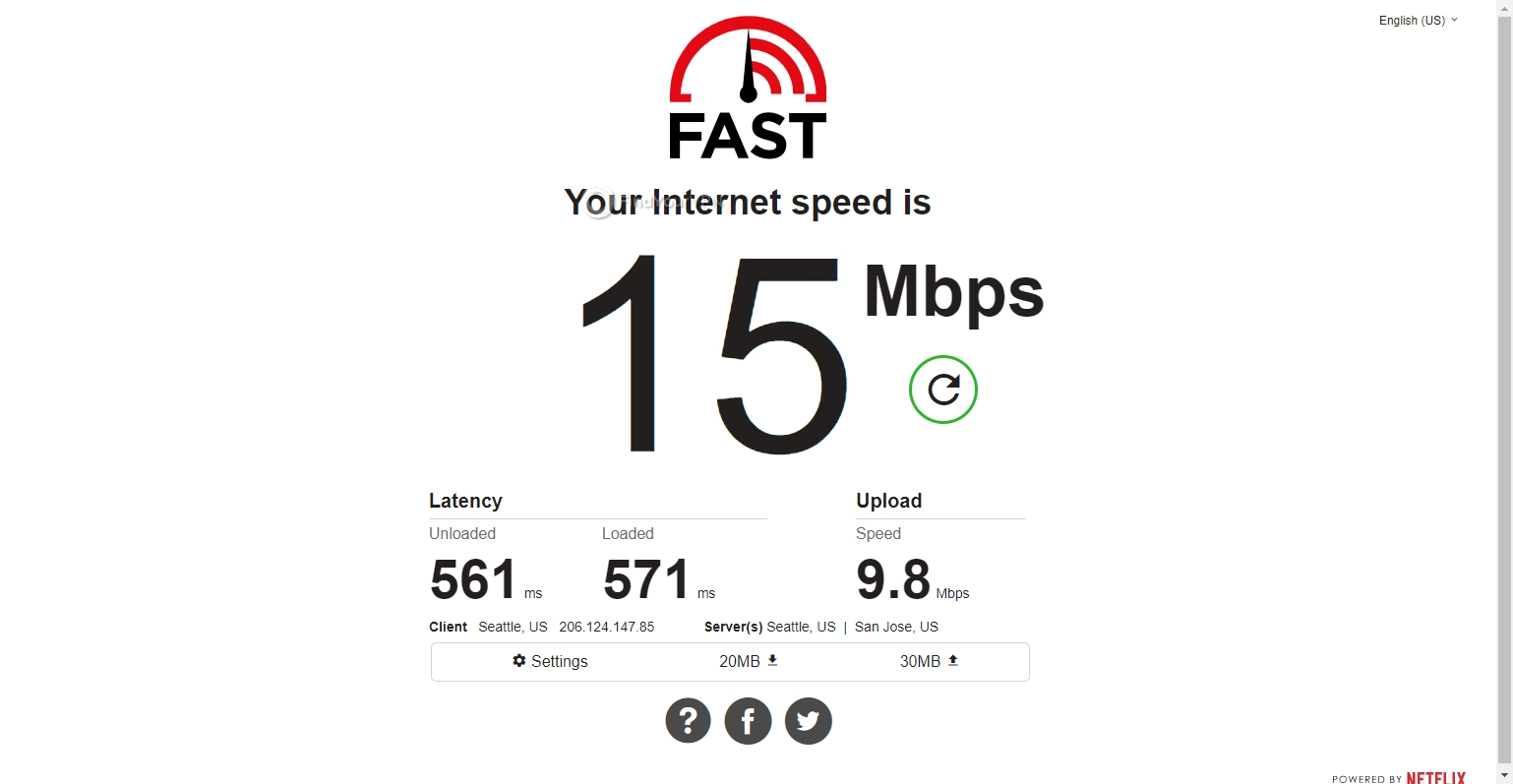 Surfshark's South Africa speed test