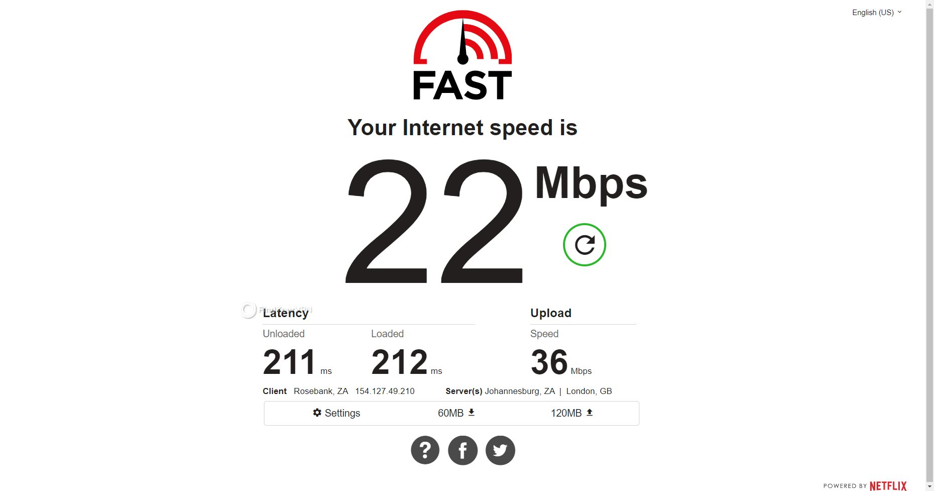 VPNSecure South Africa speed