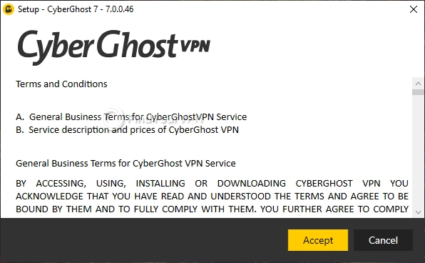 Installing the CyberGhost VPN app on your Windows PC