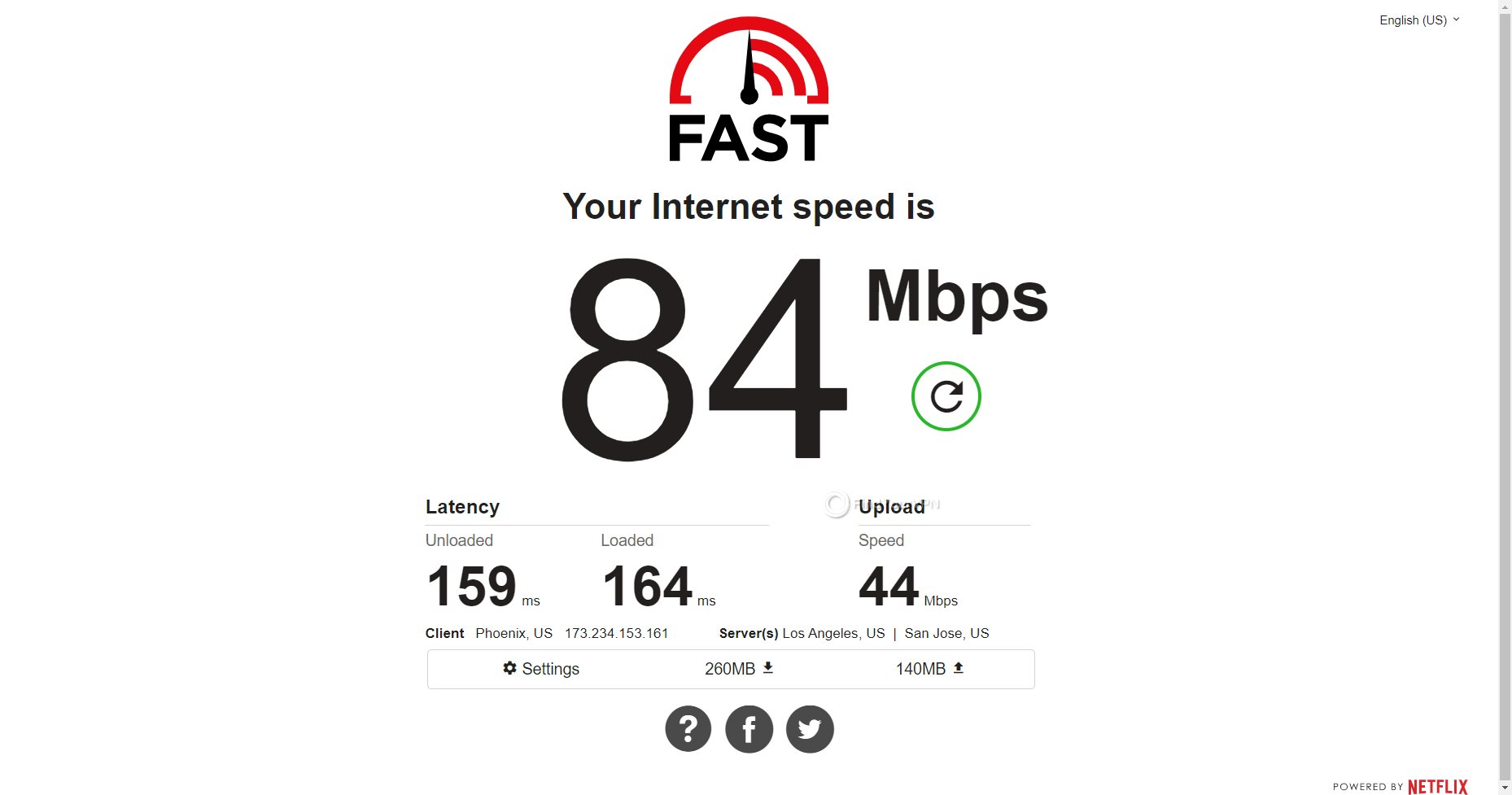 IVPN USA speed test