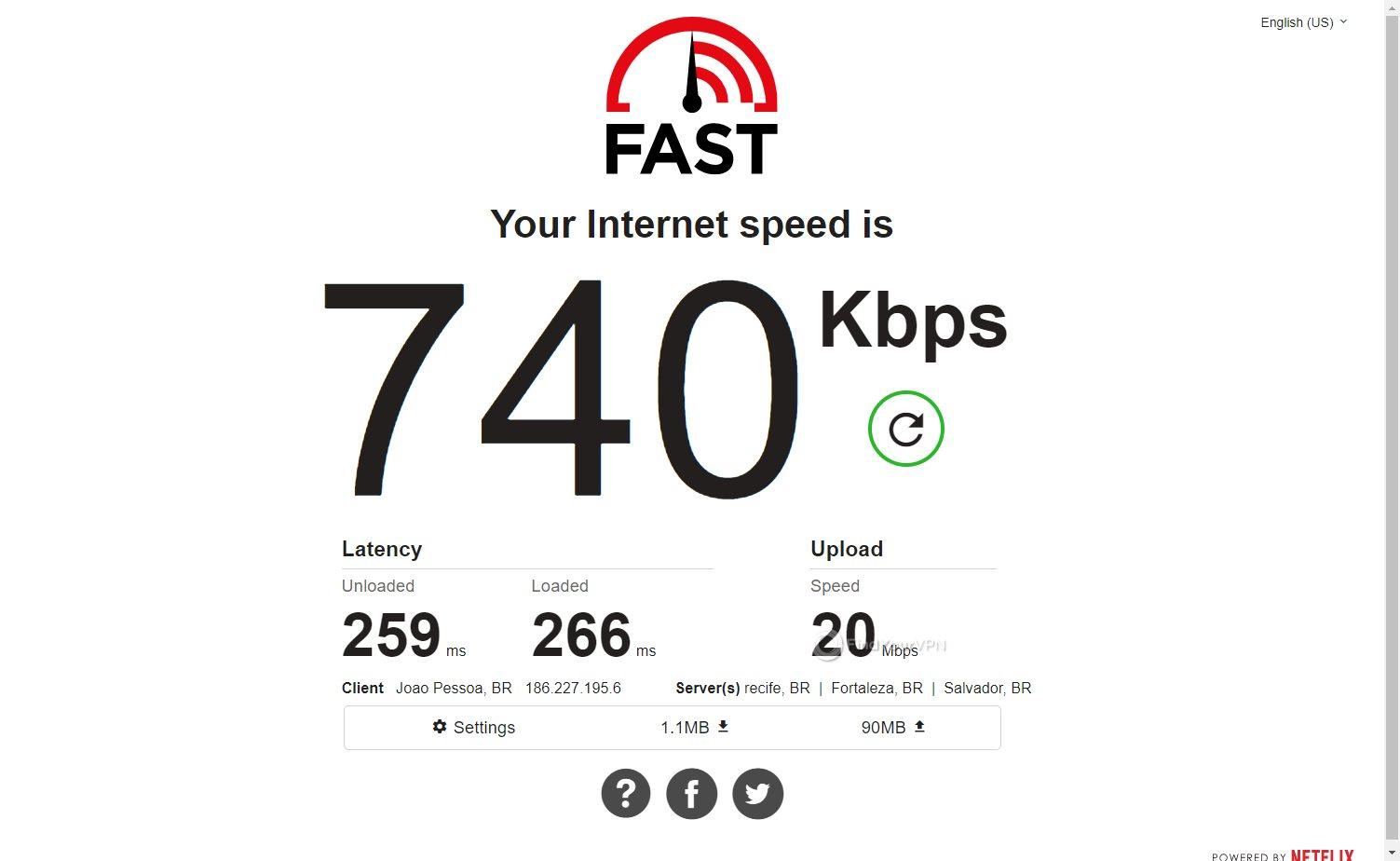 VPNArea speed Brazil