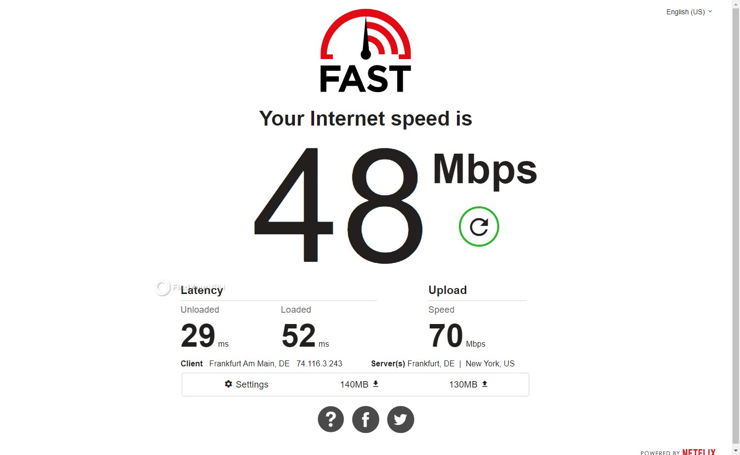 VPNArea speed Germany