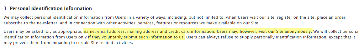 Getflix privacy policy