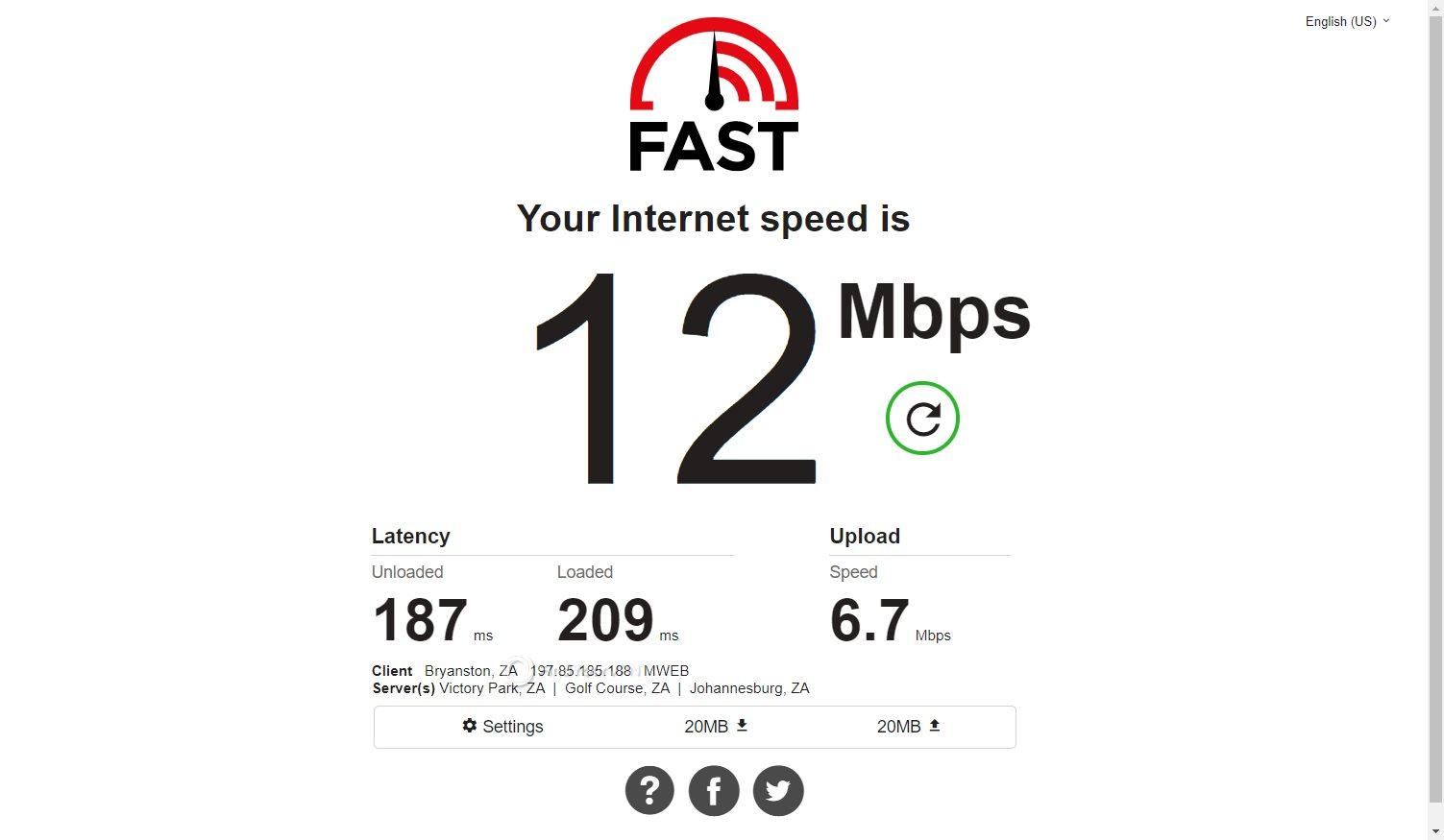 VPNArea speed South Africa