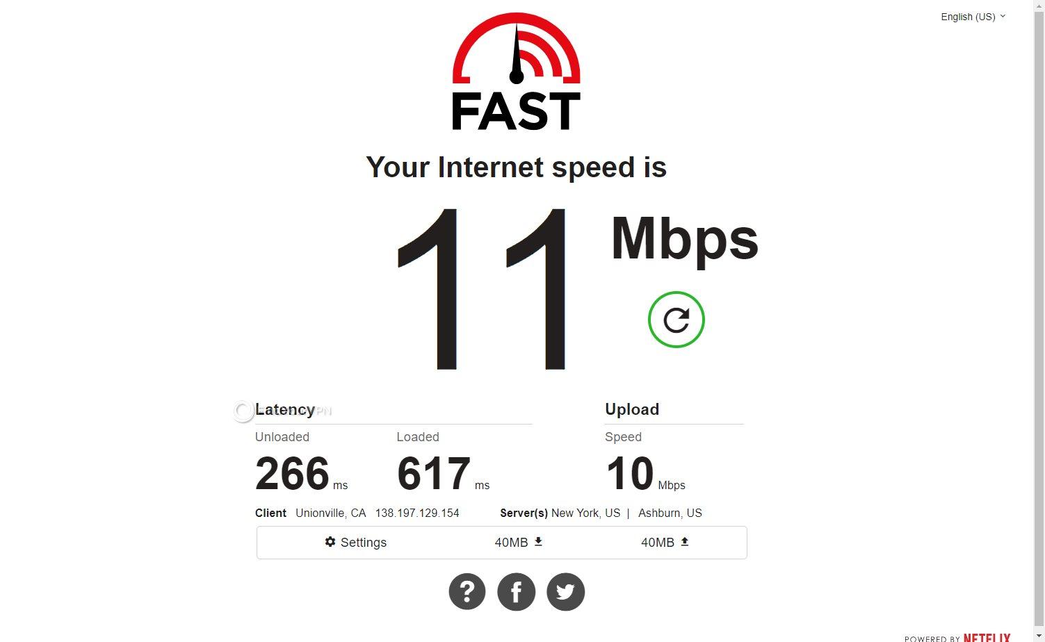 VPNArea speed USA