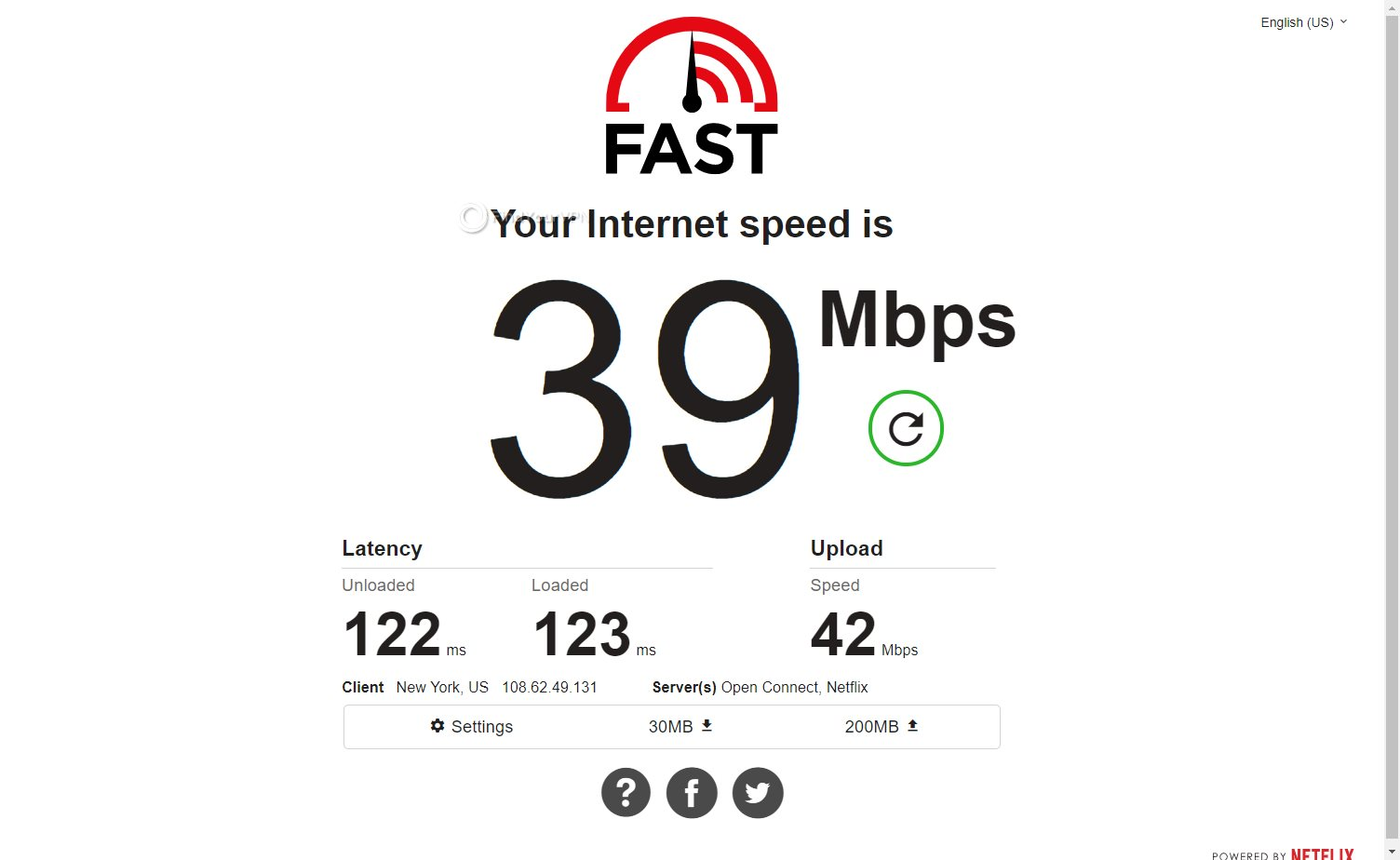 Avira Phantom VPN Speed Test USA