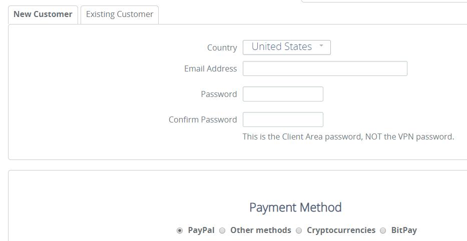 VPN.ac sign up