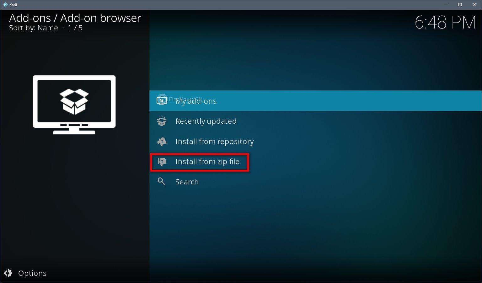 Kodi VPN Install Official Repo Step 3