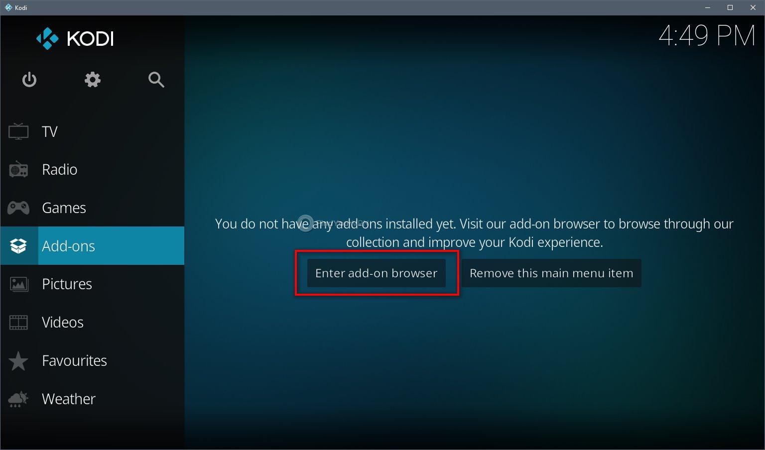 Kodi VPN Install Step 1