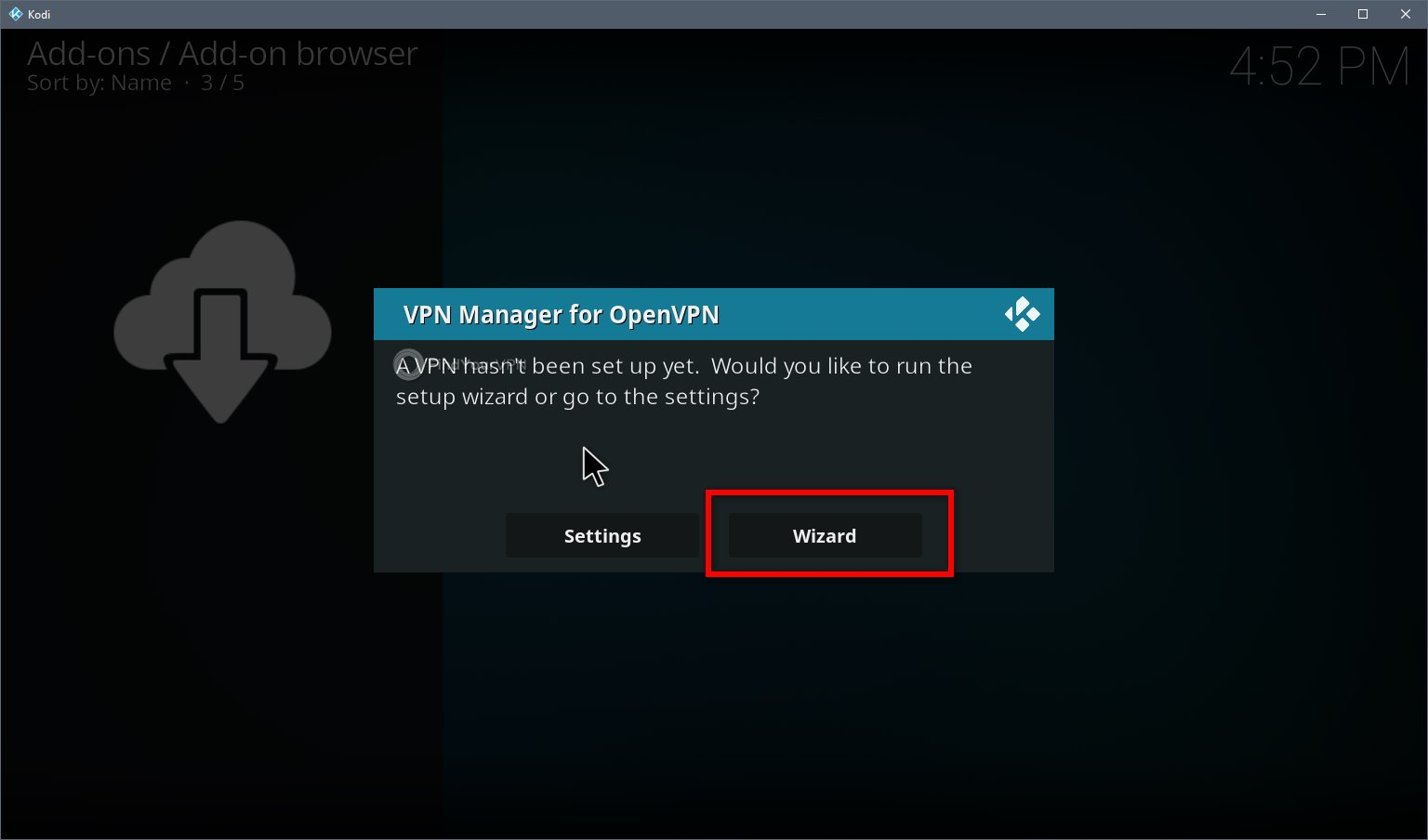 Kodi VPN Install Step 5