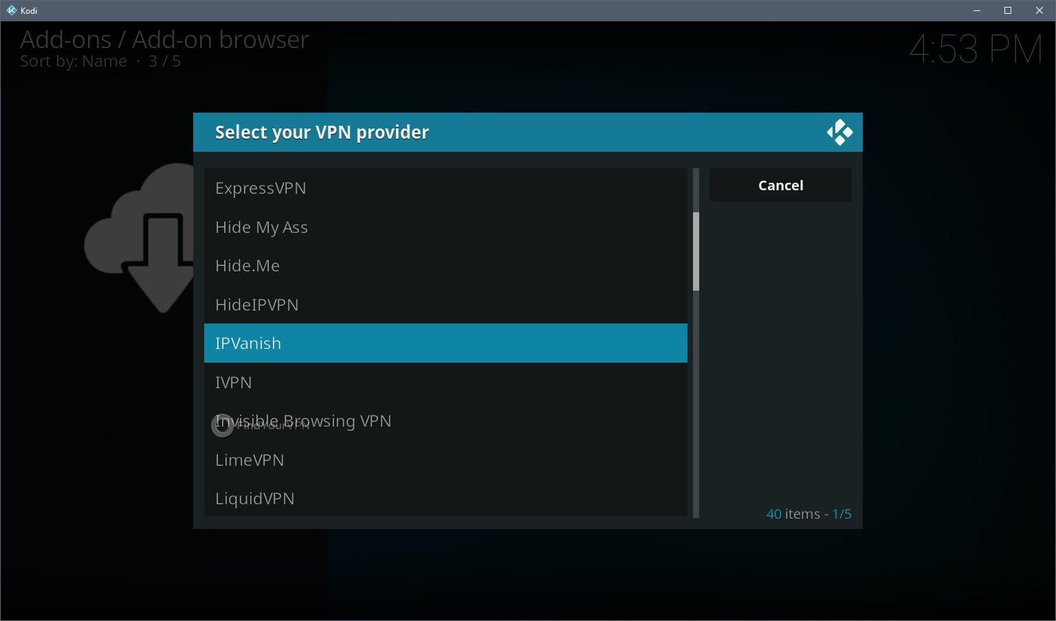 Kodi VPN Install Step 6