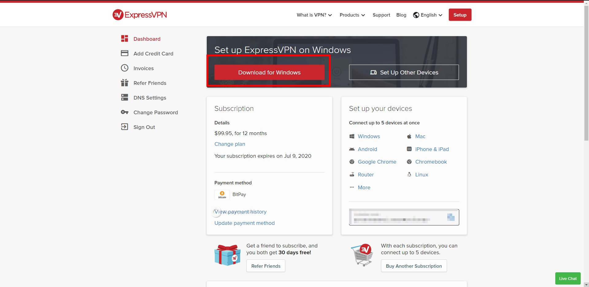ExpressVPN Download Button