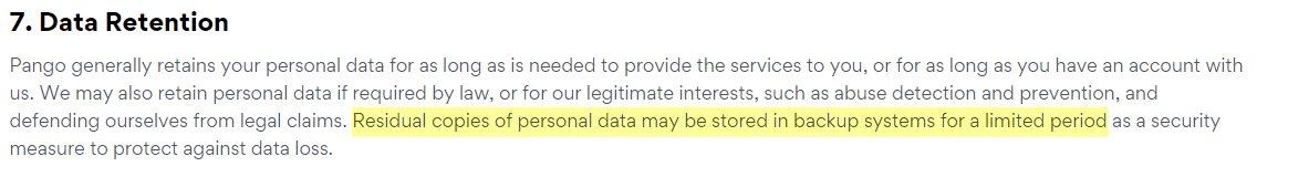 Bitdefender Premium VPN Data Retention