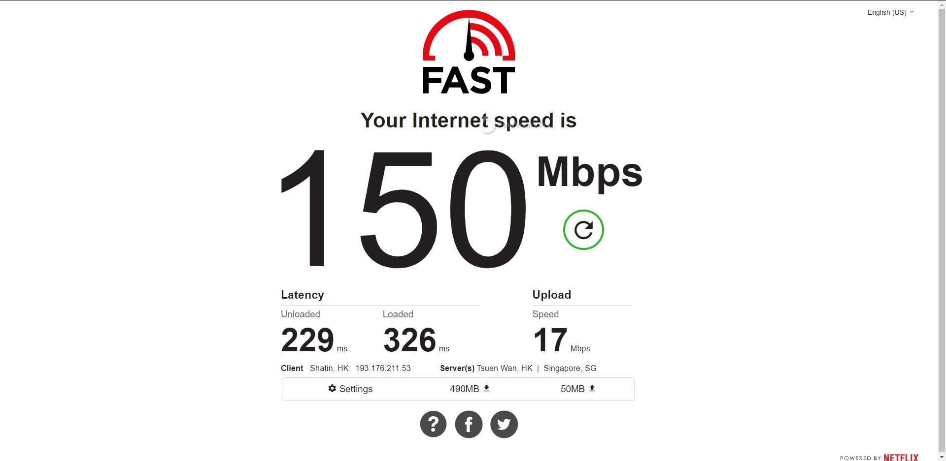 ExpressVPN Hong Kong Speed Test Results