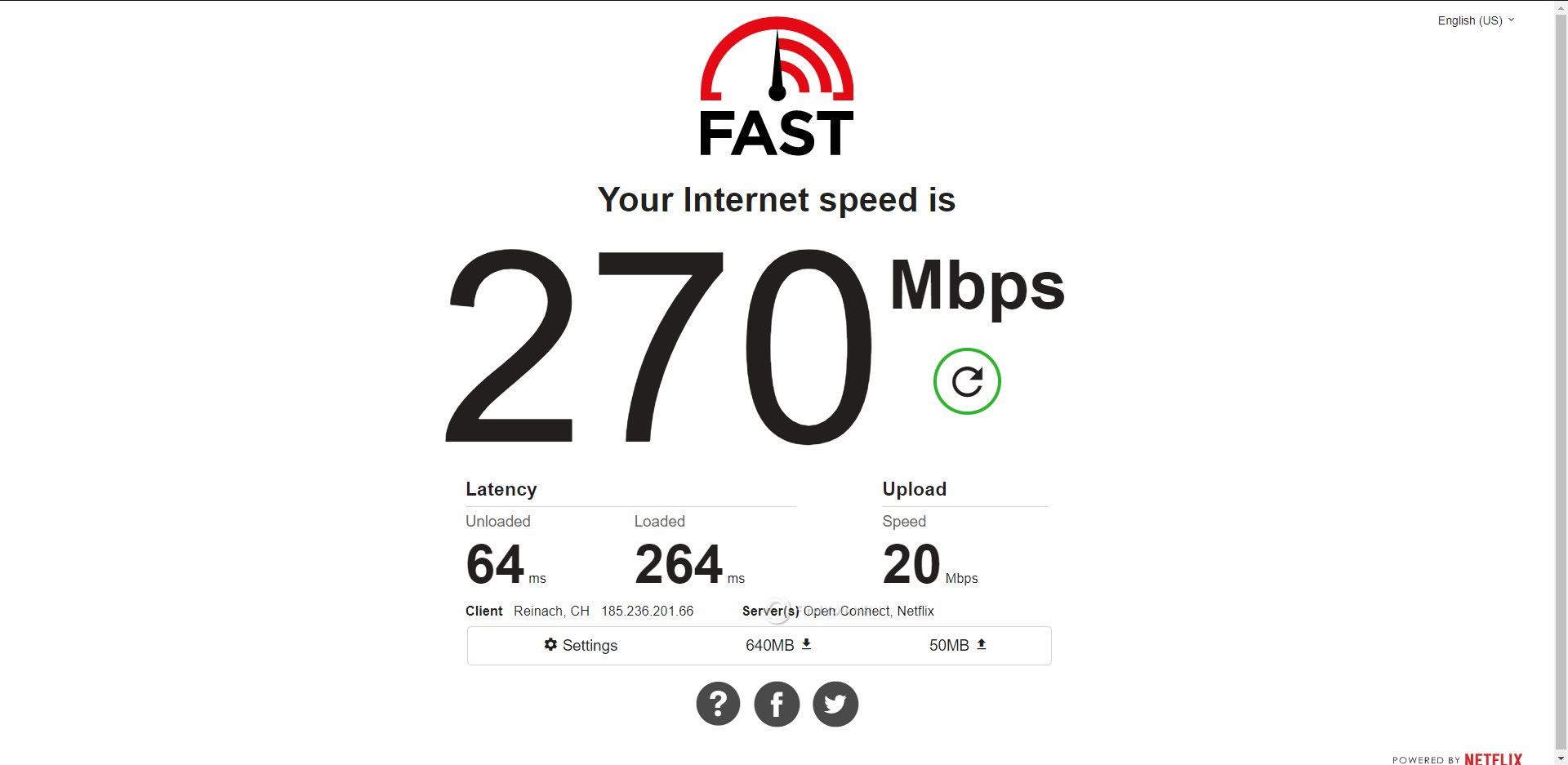 ExpressVPN Switzerland Speed Test Results