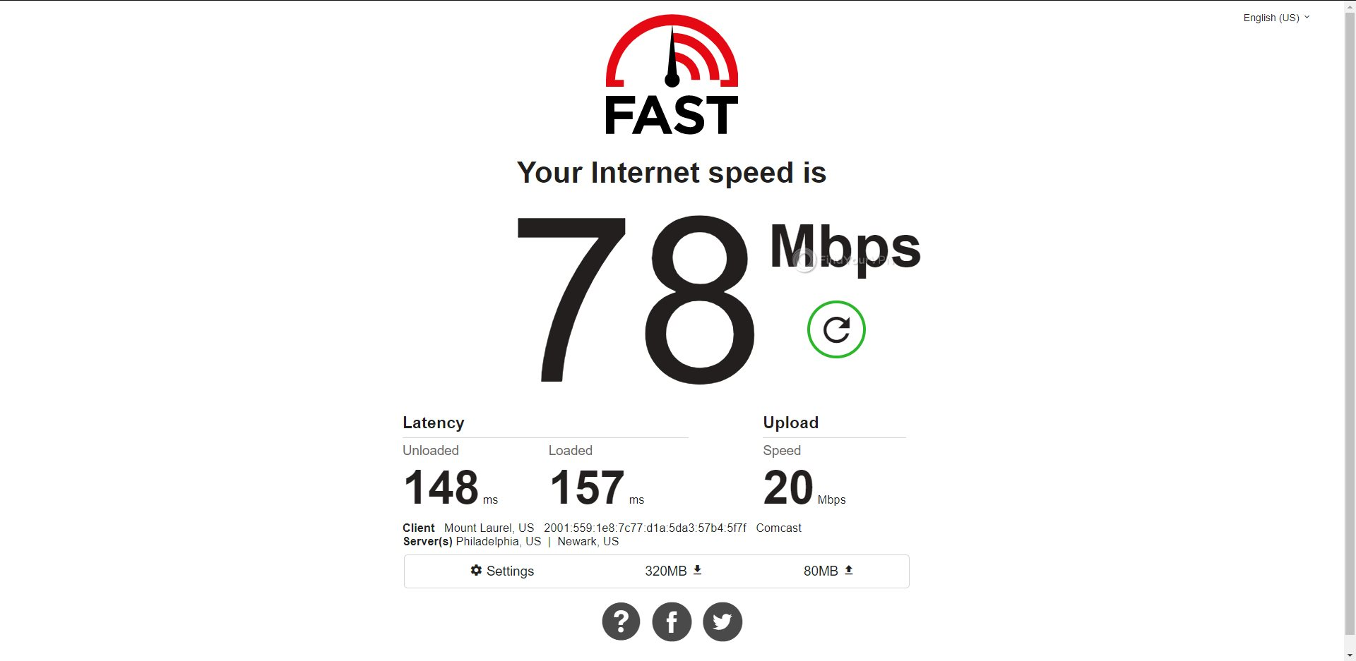 ExpressVPN USA Speed Test Results