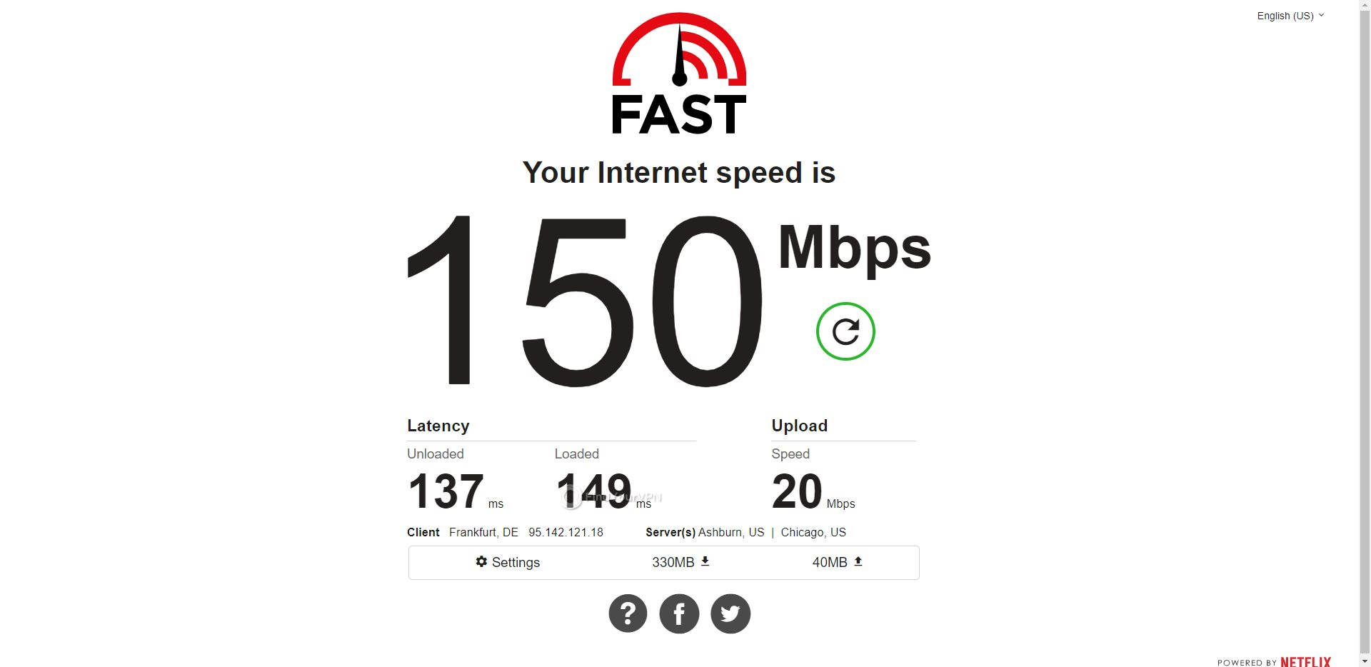 HideMyAss USA Speed Test Results