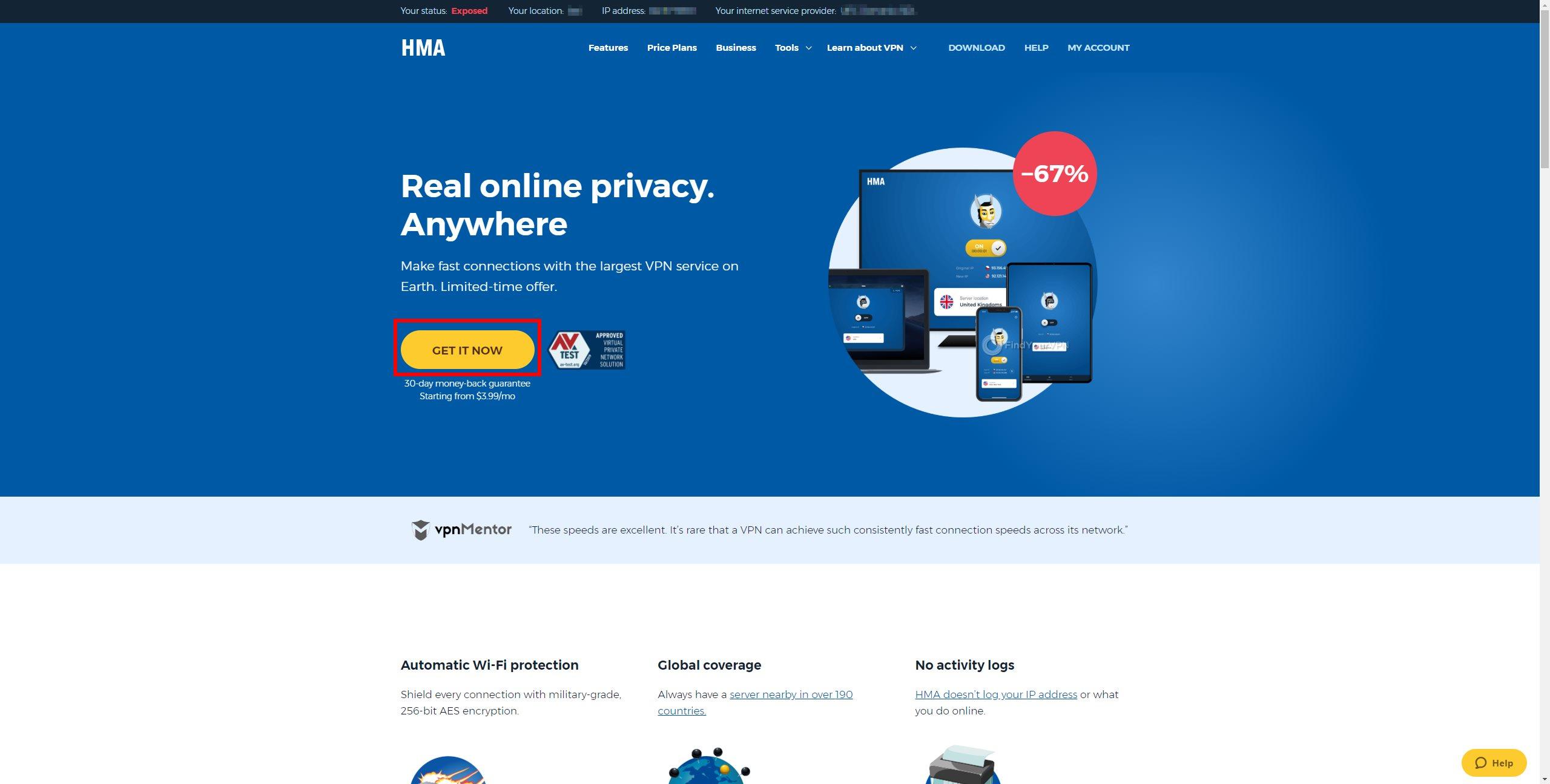 HMA Landing Page