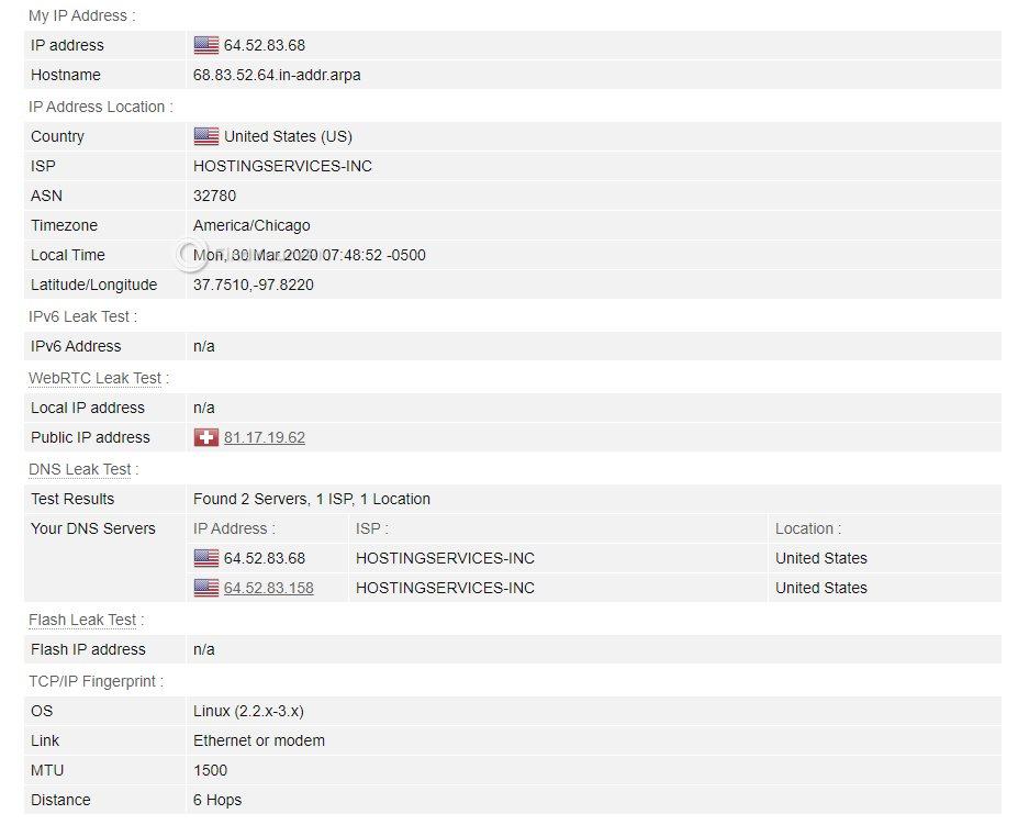Hotspot Shield BrowserLeaks Test Results