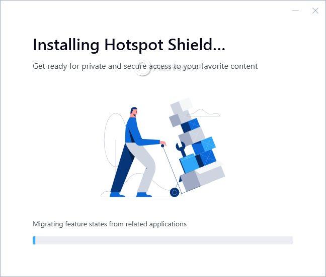 Hotspot Shield Installation Progress