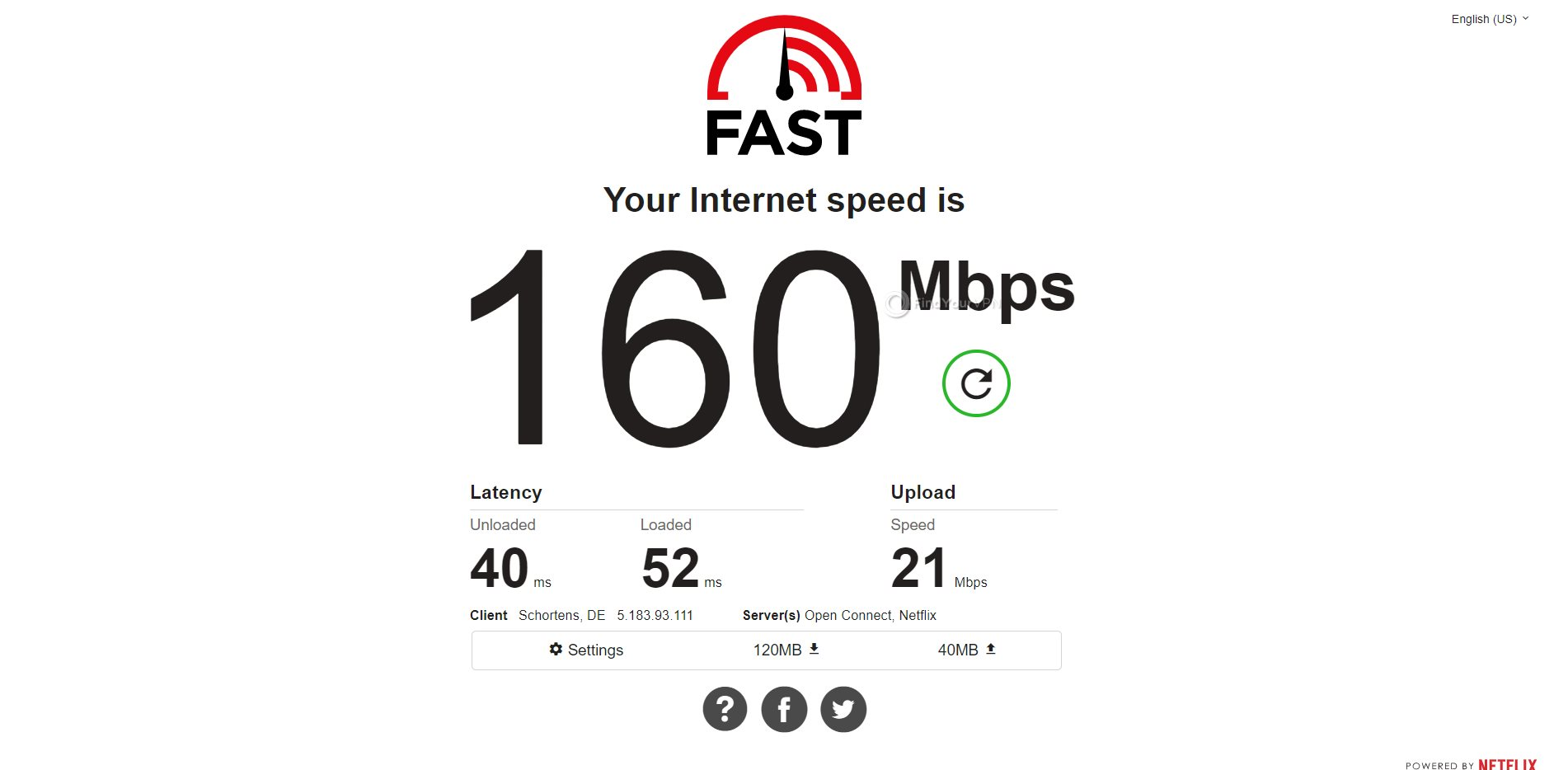 IPVanish Germany Speed Test Results