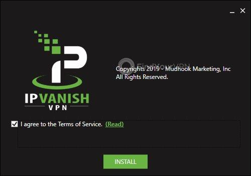 IPVanish Install ToS Agreement