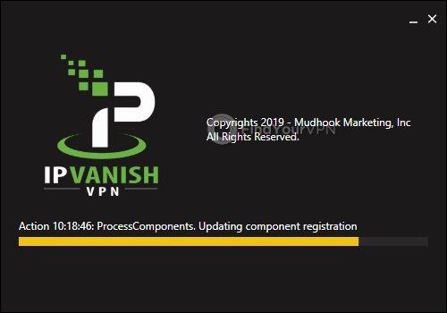 IPVanish Installation Progress Screen
