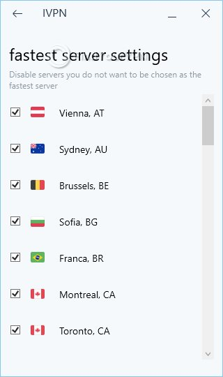 IVPN Fastest Server Settings