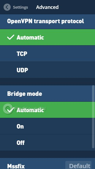 Mullvad Advanced Settings OpenVPN