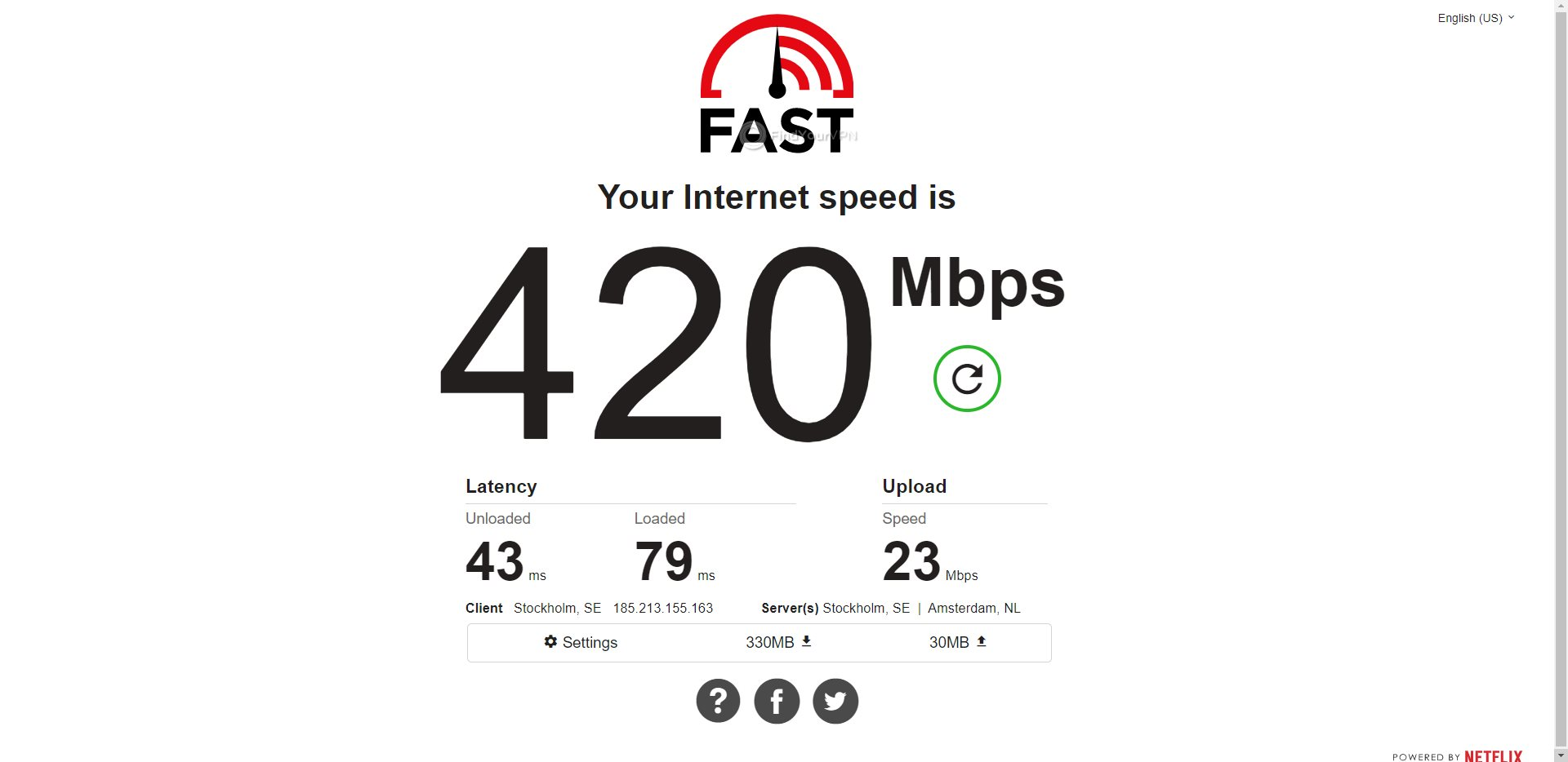 Mullvad Germany Speed Test Results