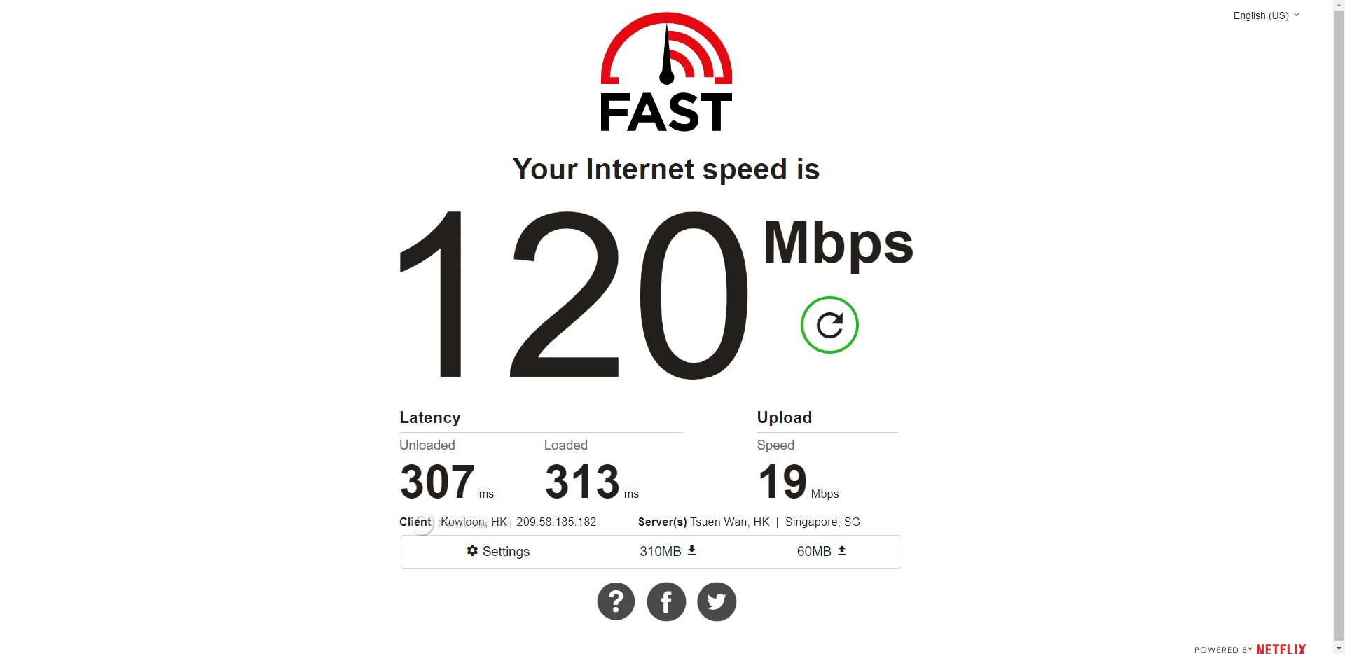 Mullvad Hong Kong Speed Test Results
