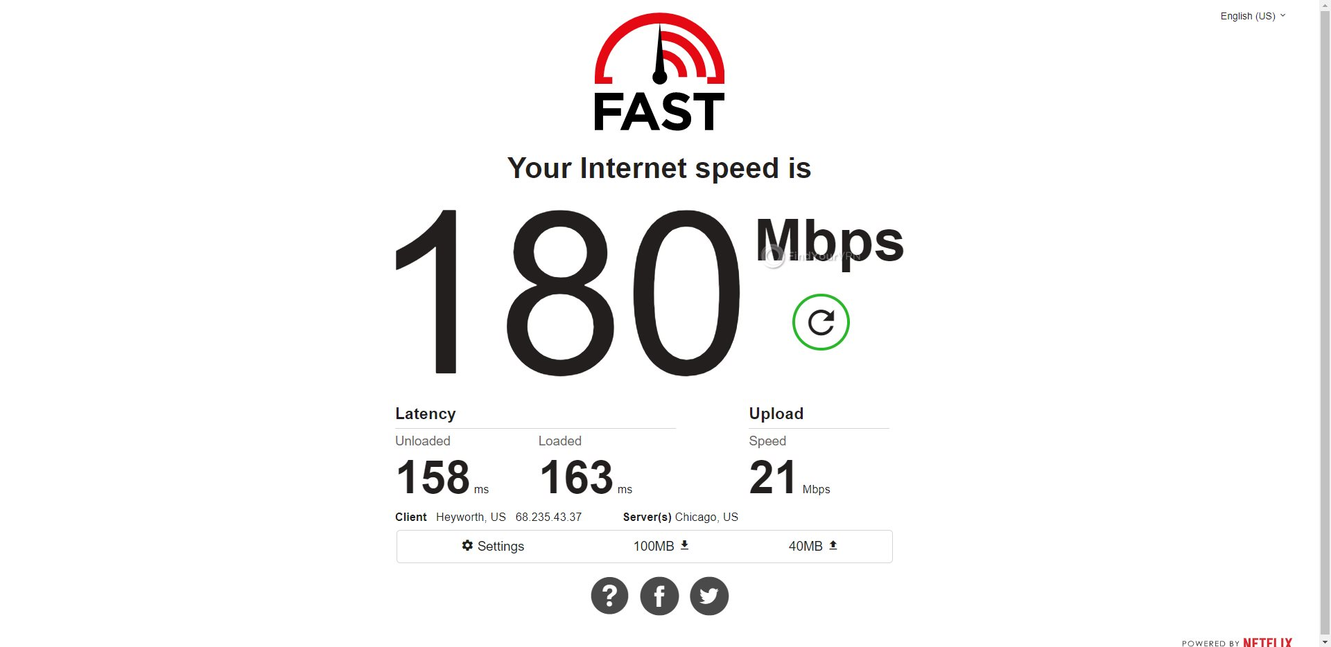 Mullvad USA Speed Test Results